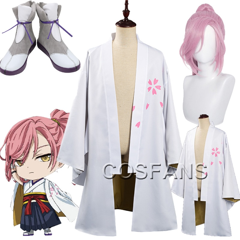 SK8 the Infinity Cherry Blossom Cosplay Costume Outer Coat Outfits men women Halloween Carnival Full set of wig shoes Tops pants