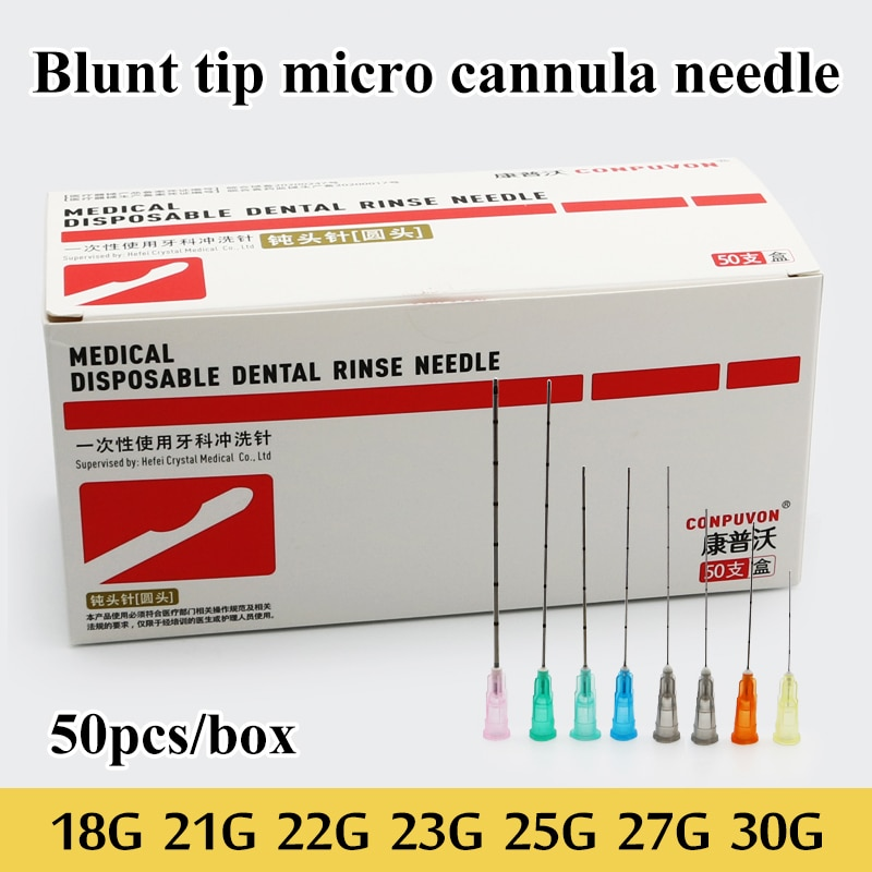 Blunt tip micro cannula medical injection needle 18G 21G 22G 23G 25G 27G 30G Plain Ends Notched Endo