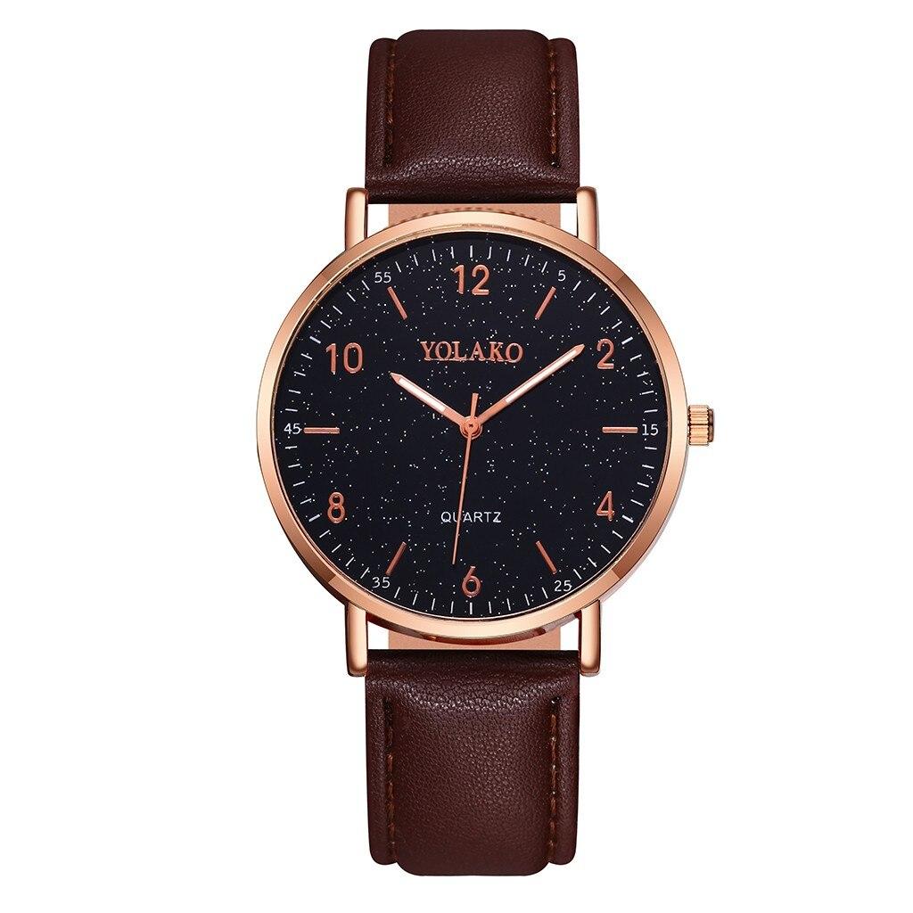 Casual Women Romantic Simple Wrist Watch Bracelet Leather Rhinestone Designer Ladies Clock Simple Dr