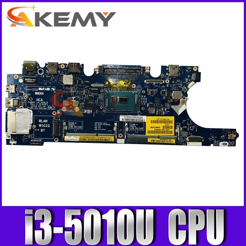 الأصلي اللوحة الأم للكمبيوتر محمول ديل خط العرض E5250 i3-5010U CN-0C82TW 0C82TW LA-A891P SR23Z DDR3 اللوحة