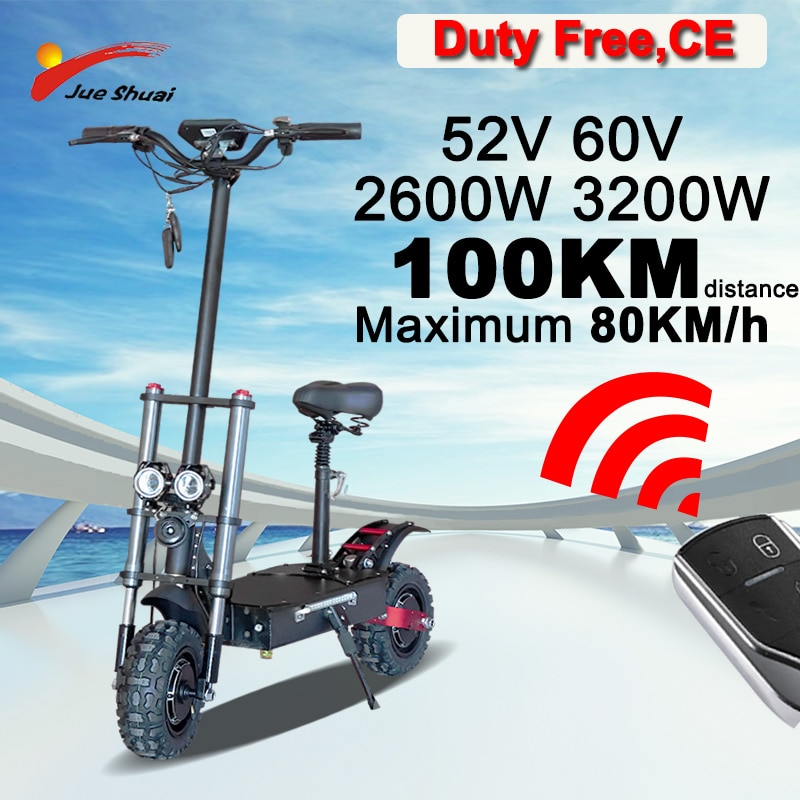 Patinete eléctrico plegable para adultos, Scooter todoterreno de alta potencia, 60V, 3200W,...