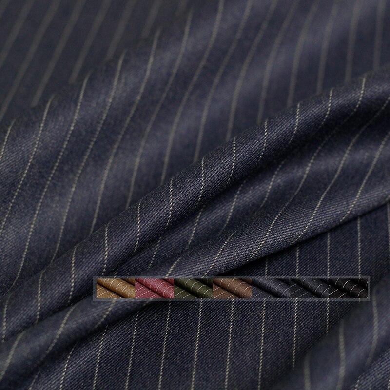 Tissus en soie pearlken à rayures élastiques   Matériaux de vêtement dautomne pour femmes, pantalons à coudre tissu sur mesure