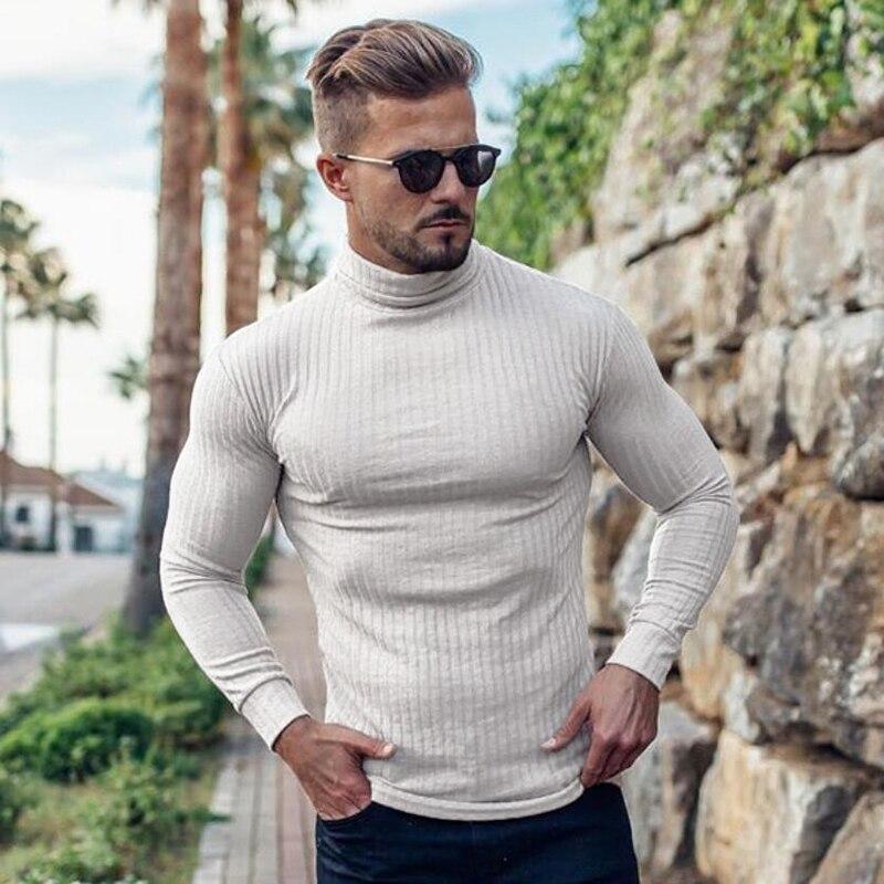 Men Pullovers Autumn Winter Fashion Thin Sweater