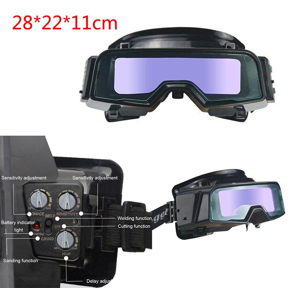 TX-R01 لحام أقنعة مع نظارات الزجاج واقية الأشعة فوق البنفسجية الإشعاع التلقائي لحام خوذة سواد نظارات لحام قناع الحرباء