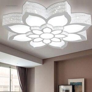 Светодиодный Цветок лотоса форма потолочный светильник гостиная, Спальня Кабинет Потолочный светильник коммерческих офисных помещений потолочные светильники AC110-240V
