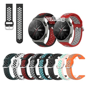 20mm 22mm Sport Silicone Breathable Strap For Huawei Watch GT 2 2e GT2 Pro Honor MagicWatch Smart Watch Wristband