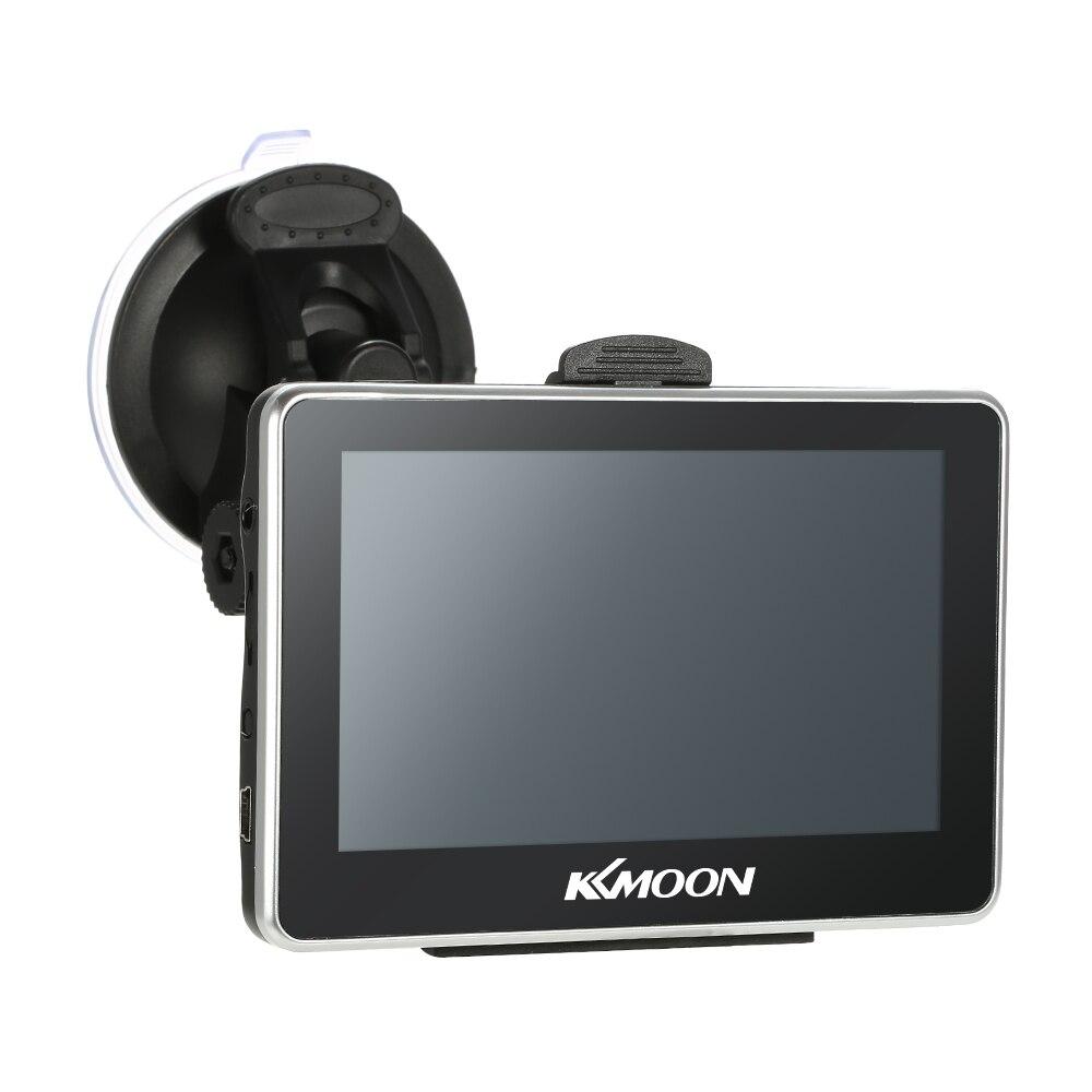 Navegador portátil KKmoon de 4,3 pulgadas para coche, navegación GPS, reproductor de vídeo FM, navegador para coche con soporte trasero + Mapa gratis, pantalla táctil HD