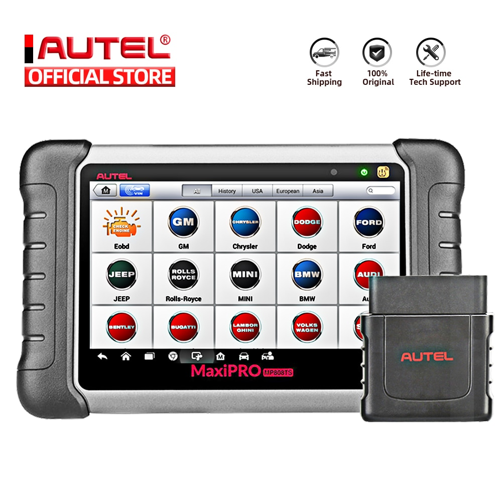 Autel MaxiPRO MP808TS OBDII Car Automotive Diagnostic Tool OBD2 Scanner OBD 2 Code Reader TPMS Funct