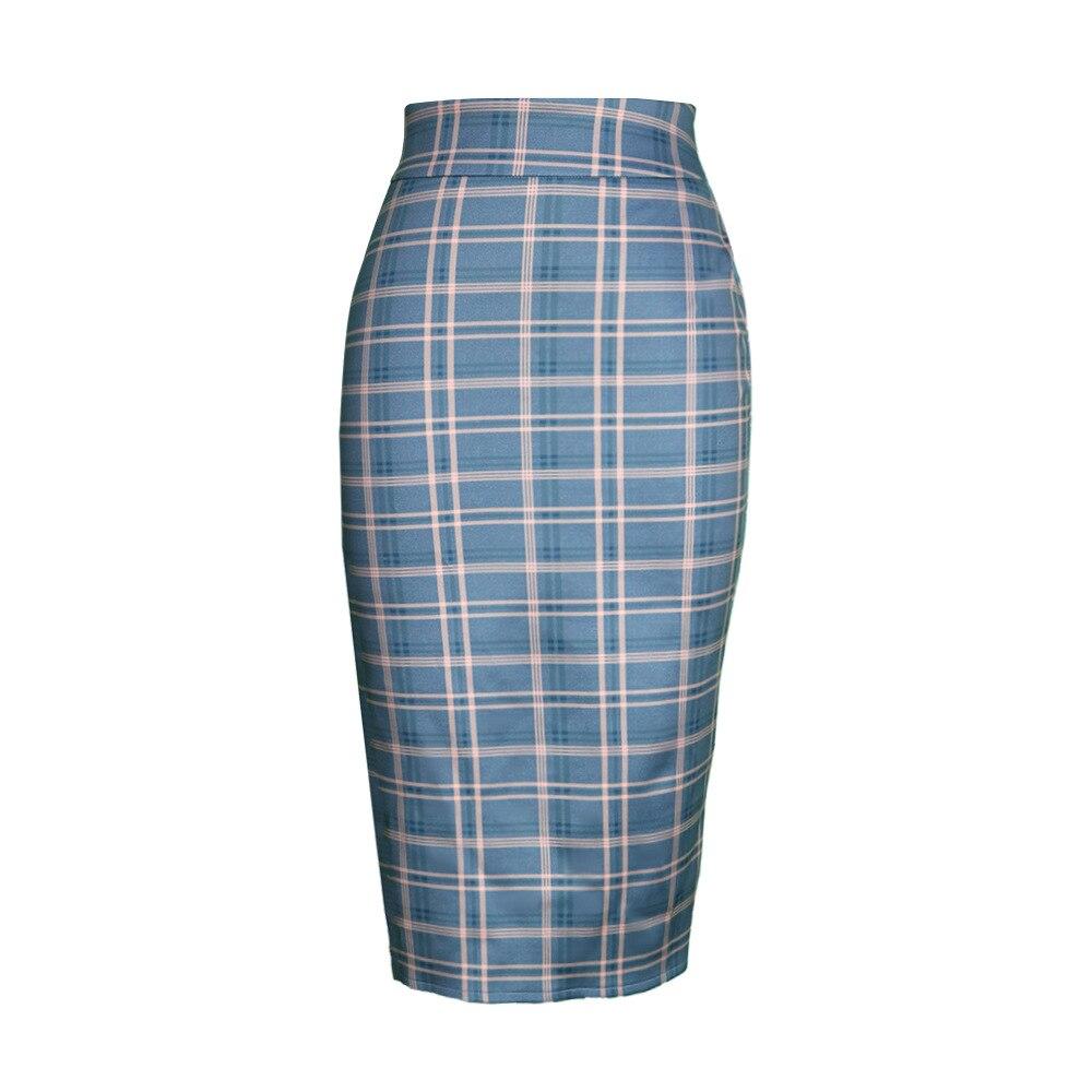 Женская универсальная клетчатая юбка с завышенной талией, облегающая пикантная юбка с запахом на бедрах, модная повседневная облегающая оф...