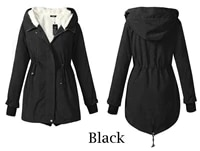 casual warm coat for women cold thick long cotton padded jacket hat 2021 autumn and winter new fashion clothes