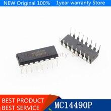 {Nouveau original } 5 pièces/lot MC14490P DIP-16 MC14490 DIP16 MC14490PG