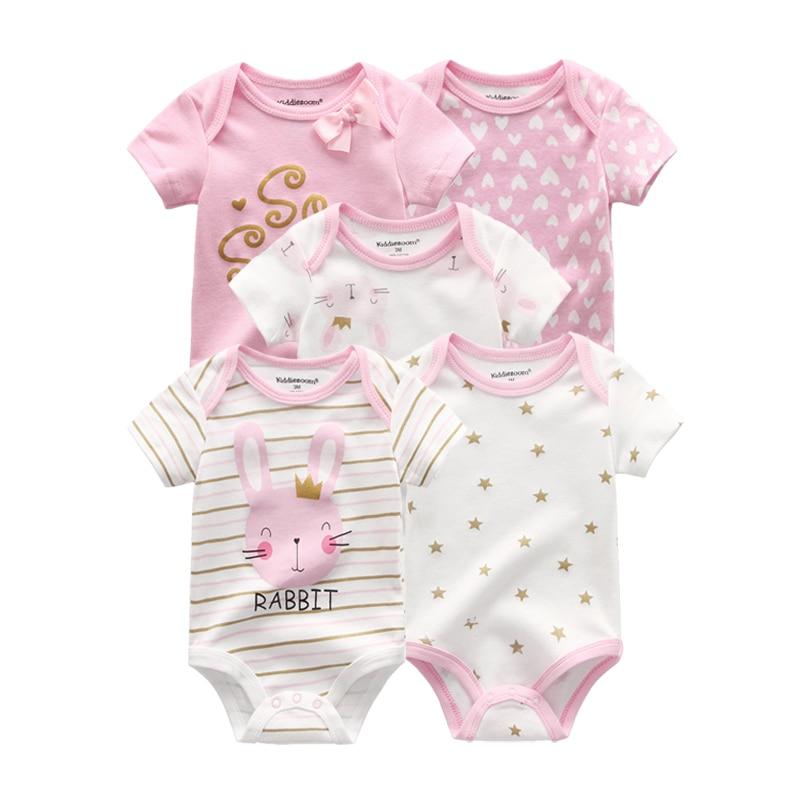 2021 для маленьких девочек, одежда в стиле унисекс, одежда, 5 штук, хлопковые боди с принтом Одежда для новорожденных малышей, комплект одежды для девочек с персонажами из мультфильмов для мальчиков и девочек; Roupas de bebe|Ромперы| | АлиЭкспресс