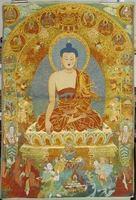 Sakyamuni Buddha hanging painting exquisite embroidery religious embroidery machine repair