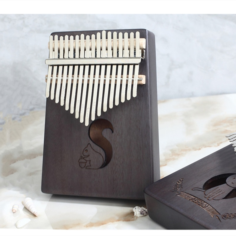 Kalimba 17 Key Thumb Piano High Quality Wood Musical Instrument Mbira Body Musical for Piano Beginners Finger Piano enlarge