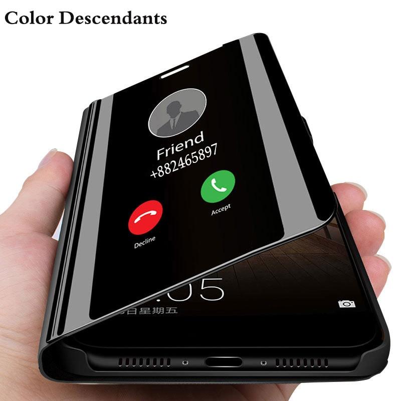 Magnetische Fall Für Huawei Ehre 8X JSN-L21 Fällen Leder Magnet Flip Telefon Abdeckung Für Huawei Honor8X 8 X Smart Spiegel fall Etui