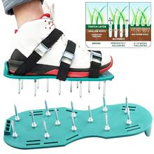 1 Pair Inflatable Shoes Green Garden Lawn Aerobic Soil Loosening Soes Loose Soil Nail Shoes Sandals