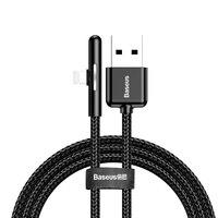 Зарядный кабель, светодиодный, 90 градусов, 1 м, 2 м, для iPhone xs, max, xr, 8, 7, 6s plus, 5s, 11 pro, apple ipad pro мобильный телефон плетеный Быстрый usb-кабель 2,4 А