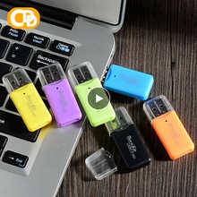 Простой USB 2,0 Micro SD TF кардридер для флэш-памяти мини портативный пластиковый адаптер для ноутбука SH мобильные конвертеры Новинка