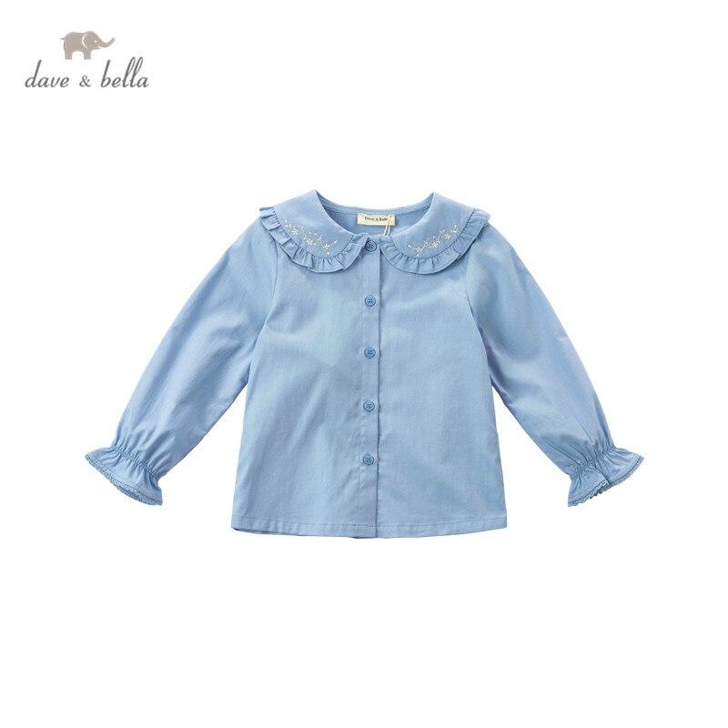 DKY17164 нижнее белье в стиле бренда dave bella/От 5 до 13 лет весеннее платье для маленьких девочек, рубашки с длинным рукавом платье с цветочным узором, рубашка с вышивкой детская одежда из бутика|Блузки и рубашки| | АлиЭкспресс