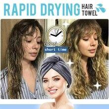 Tapa de pelo seco de fibra Superfina de alto grado, secador rápido de pelo, toalla, gorro de pelo seco, envoltura de baño, toalla de pelo superabsorbente