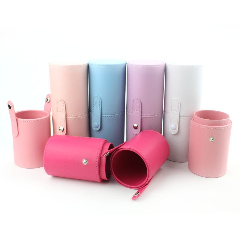 PU Leather Makeup Storage Holder Cosmetic Cup Case Box for Makeup Brush Pen Cosmetic Bag Beauty Brush Tube