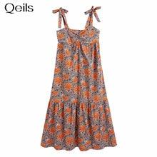 Qeils Mini Long Sleeve Dress Women Sexy Print Single Breasted Wrinkle  Casual Women Dress  Summer 20