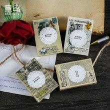 Journamm-Paquete de pegatinas con letras Vintage en caja para decoración, suministros creativos de papelería, pegatinas de Material de decoración, 24 Uds.