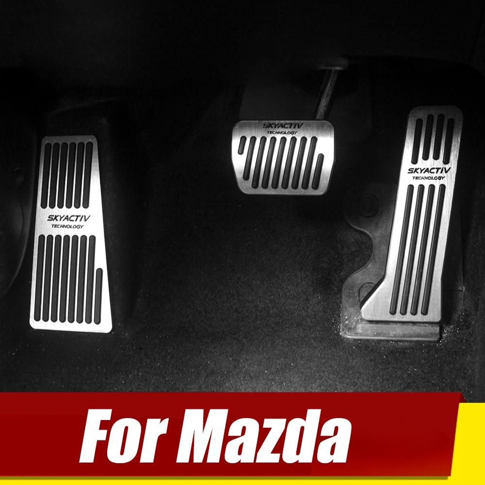 For Mazda 2 3 6 BM GJ CX-5 CX5 KE KF CX-3 CX7 CX-8 CX-9 Axela ATenza Car Accelerator Footrest Pedal Brake Clutch Pad Accessories
