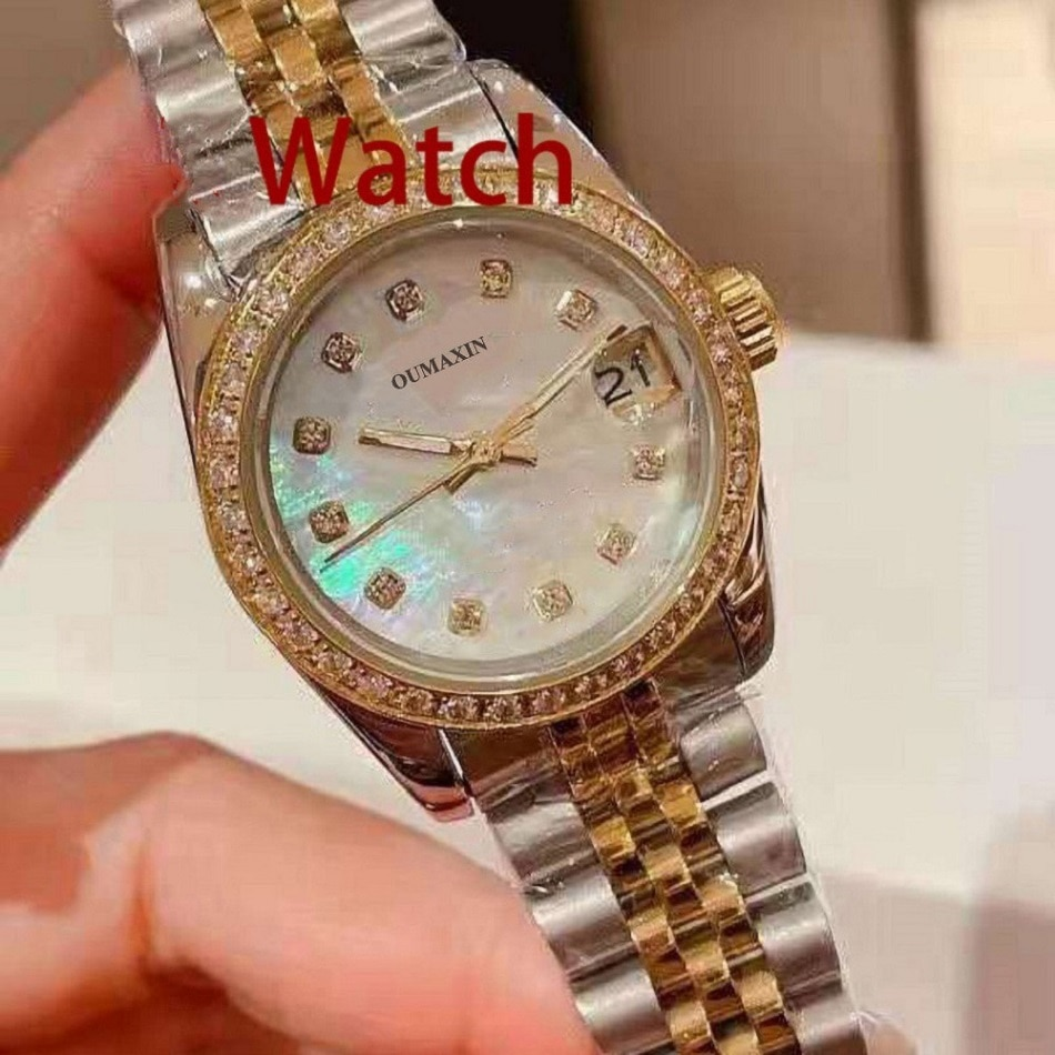Luxury brand 31mm ladies watch automatic mechanical sapphire glass white dial 316 stainless steel clock waterproof 5par
