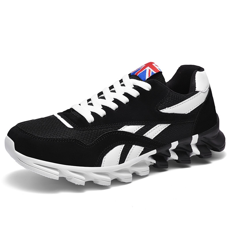 Men Running Shoes Spring New PU leather Blade Sneakers High Quality Outdoor Light Breathable Sport Athletic Shoes Male Sneakers men s running shoes autumn new style pu sneakers high quality outdoor lightweight and comfortable sneakers men s sneakers