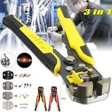 Pelacables automático multifuncional 3 en 1, alicates de prensado, herramienta de Terminal, taladro, engarzador de Cable profesional