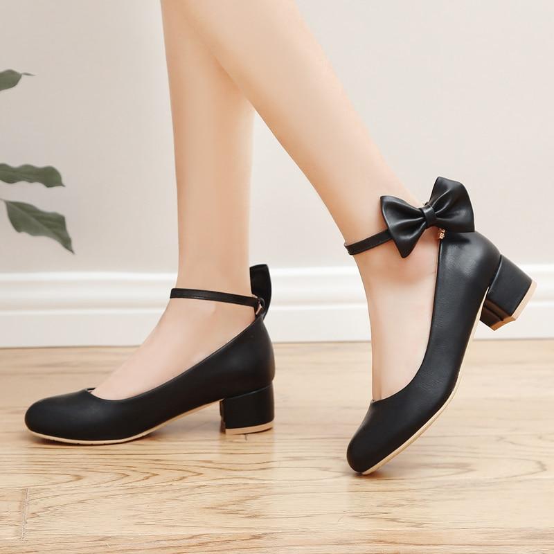 جديد الأطفال أحذية من الجلد القوس أسود أحمر أبيض عالية الكعب الفتيات الأميرة الأخفاف طفل طالب مريح الاطفال الرقص 04