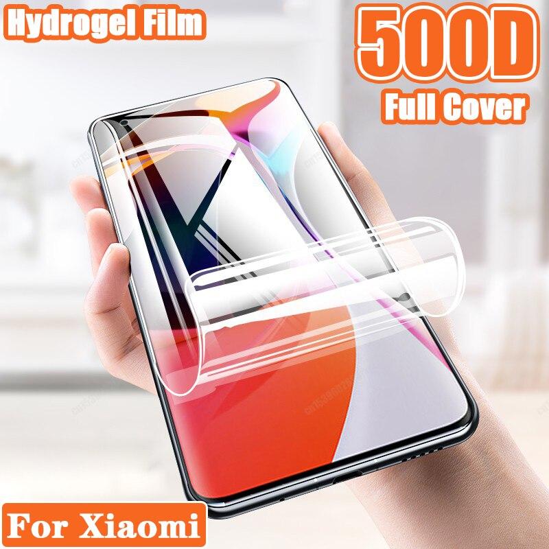 Hydrogel Film For Xiaomi Mi 10 Ultra Note Pro 11 8 Lite Mi10 Mi11 Mi8 MI X Screen Protect Full Cover A3 A4 9 Mix3 Mix4 No Glass