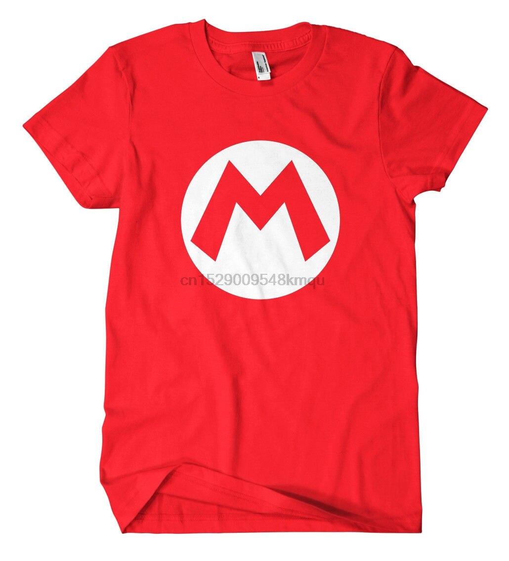 Mario camiseta jugador divertido Konsole Super Mario Luigi Yoshi Wario Koopa Bowser camiseta de verano con cuello redondo envío gratis barato tee