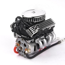 1 Uds F82 V8 simula el ventilador de refrigeración del radiador Motor eléctrico para escala 1:10 RC coche AXIAL SCX10 90046 TRX4 Redcat GEN8