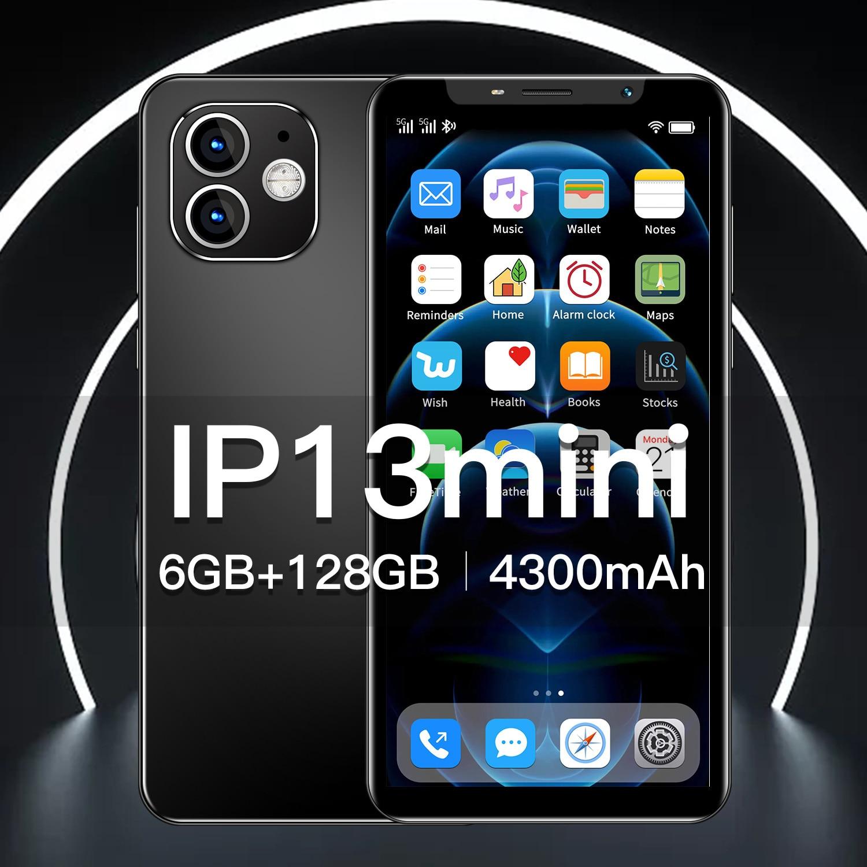 4.72Inch Ip13Mini 6GB+128GB Andriod10 Wifi 10 Core MTK6895 Dual SIM 4G LTE 5G 4300mAh Mobile Cell Ph