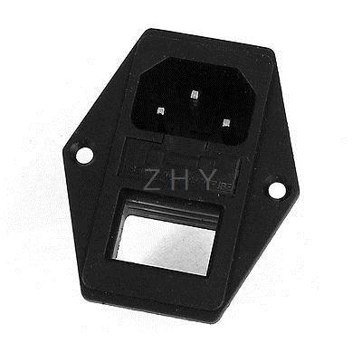 IEC320 C14 toma de entrada de alimentación 250V 10A w soporte de interruptor basculante