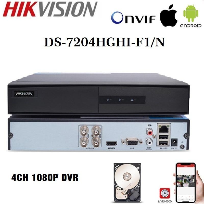 Hikvision DVR versión en inglés DS-7204/08/16HGHI-F1/N 1080P 4/8/16CH DVR analógico/HDTVI/CVI/Cámara DE SEGURIDAD AHD