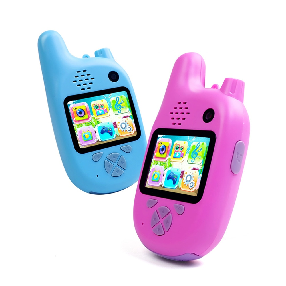 2pcs Kids Camera with Walkie Talkies, 2 in 1 Toy Walkie Talkies for Kids with 1080p Lenses Camera Best Gift for Girls Boys