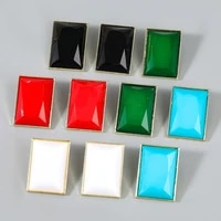 square alloy stud earring components eardrop simple style for women jewelry accessories handmade materials