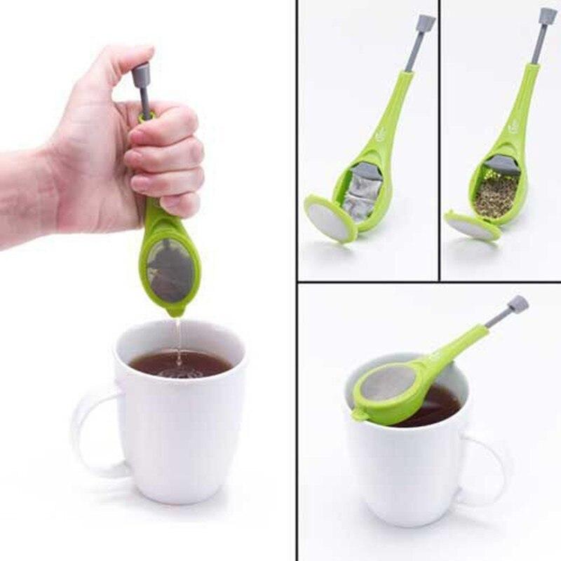 Acero inoxidable malla infusora de té colador de té reutilizable Metal bolsa de té filtro hoja suelta té verde colador para taza tetera Teaware