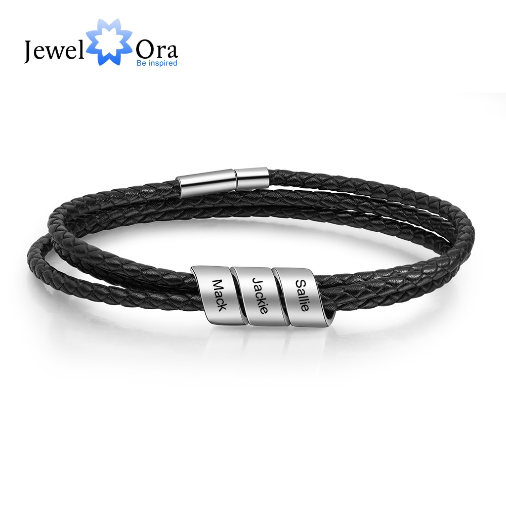 jewelora-pulseras-grabadas-con-3-cuentas-de-nombre-para-hombre-brazaletes-de-cuero-negro-personalizados-vintage-regalo-para-padres