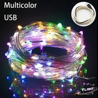 swt usb lights fairy micro led transparent wire for party christmas wedding fairy light 1m 5m 10m 100 leds starry string
