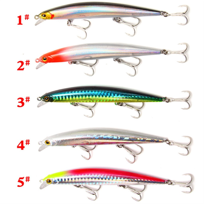 Topwater Popper Plastic Hard Bait 5pcs 11.5cm/11g 3D Eyes With Hook Tackle Artificial Floating Wobblers Outdoor Fishing Lures enlarge