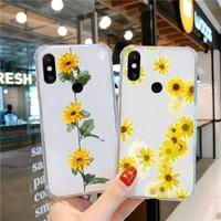 sunflower luxury unique design phone case transparent for xiaomi cc max mix note 3 2 6 8 5 10 11 9 10 play x s se lite pro