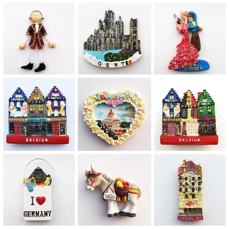 Imán de nevera 3D con vista de la calle clásica de Viena, recuerdo turístico, decoración del hogar magnética de Nueva York, Idea de regalo, Europa, Bélgica, España, Alemania, Alemania