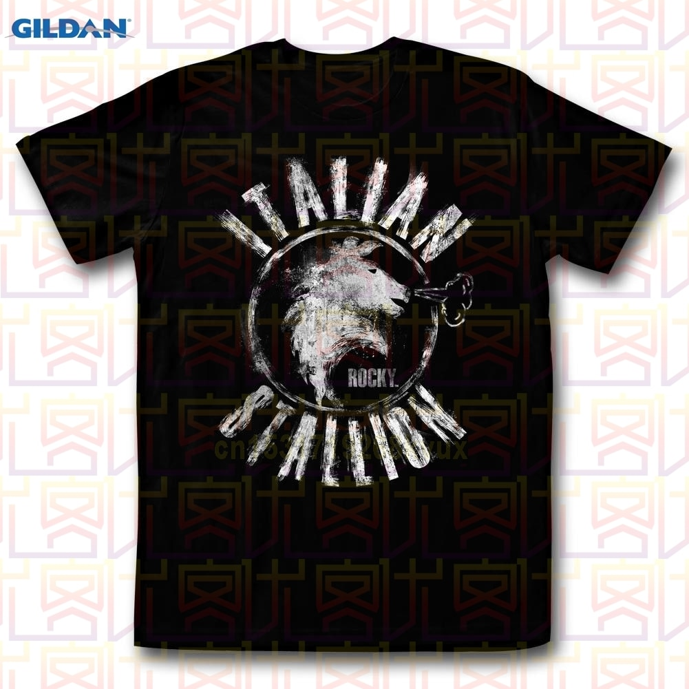 T-Shirts Sizes S-3XL New  Rocky Italian Stallion Chalk Adult Tee Shirt