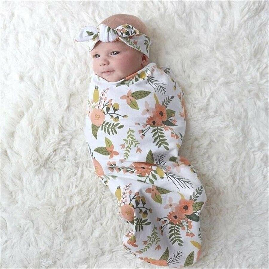 ¡Novedad de 2019! Manta de muselina para bebé, niño, niña, manta envolvente Floral