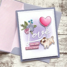 Piggy con un globo de amor sellos y troqueles para artesanía troqueles álbum de recortes en relieve tarjeta de San Valentín 2020 troqueles de corte