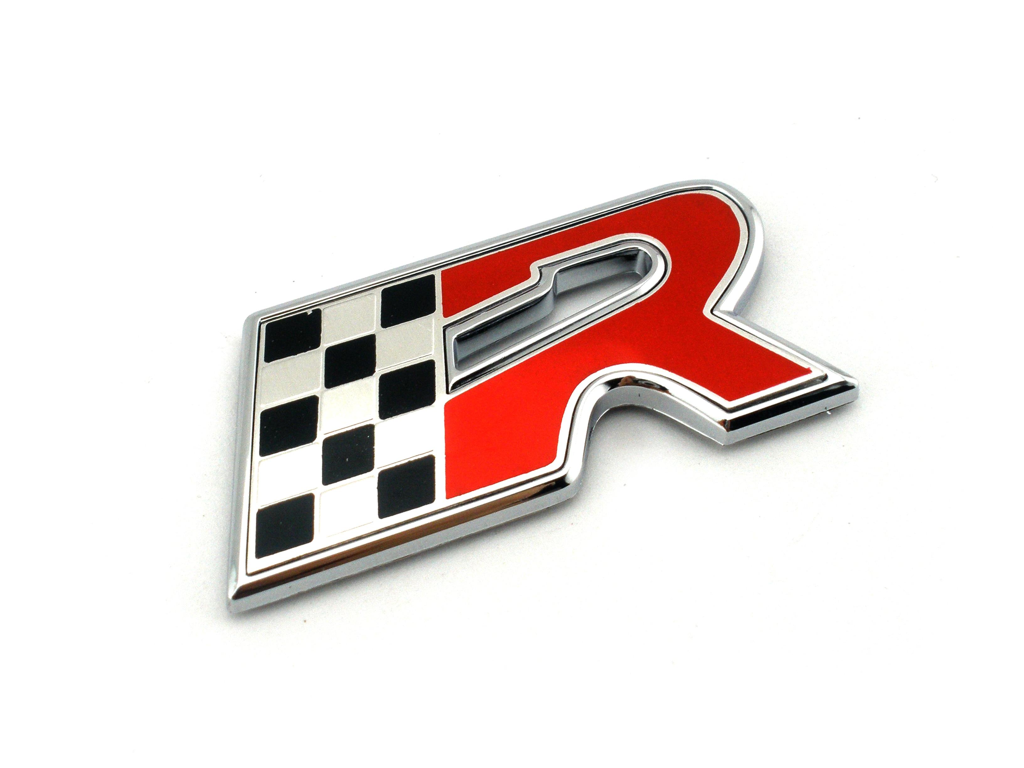 D bandera R emblema de coche insignia cuerpo guardabarros pegatina para Leon Cupra ALTEA IBIZA TOLEDO Ateca guardabarros placa de identificación trasera